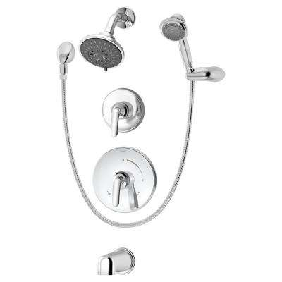 Elm Single-Handle 3-Spray Tub and Shower Faucet in Chrome (Valve Included)