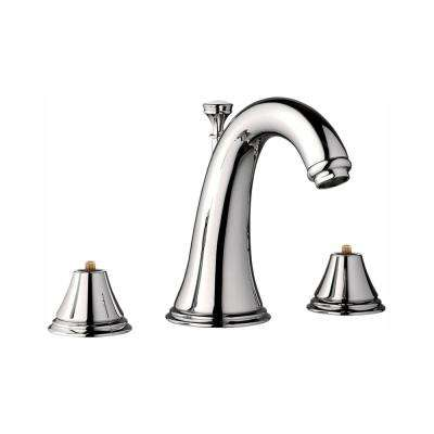 Geneva 8 in. Widespread 2-Handle 1.2 GPM Bathroom Faucet in Polished Nickel Infinity