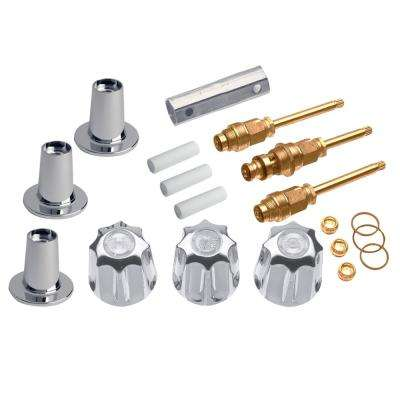 3-Handle Valve Trim Kit for Gerber in Chrome (Valve Not Included)