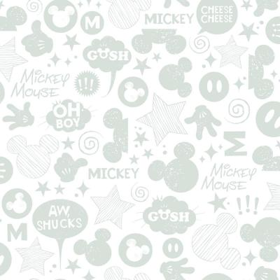 28.18 sq. ft. Mickey Mouse Icons Peel and Stick Wallpaper