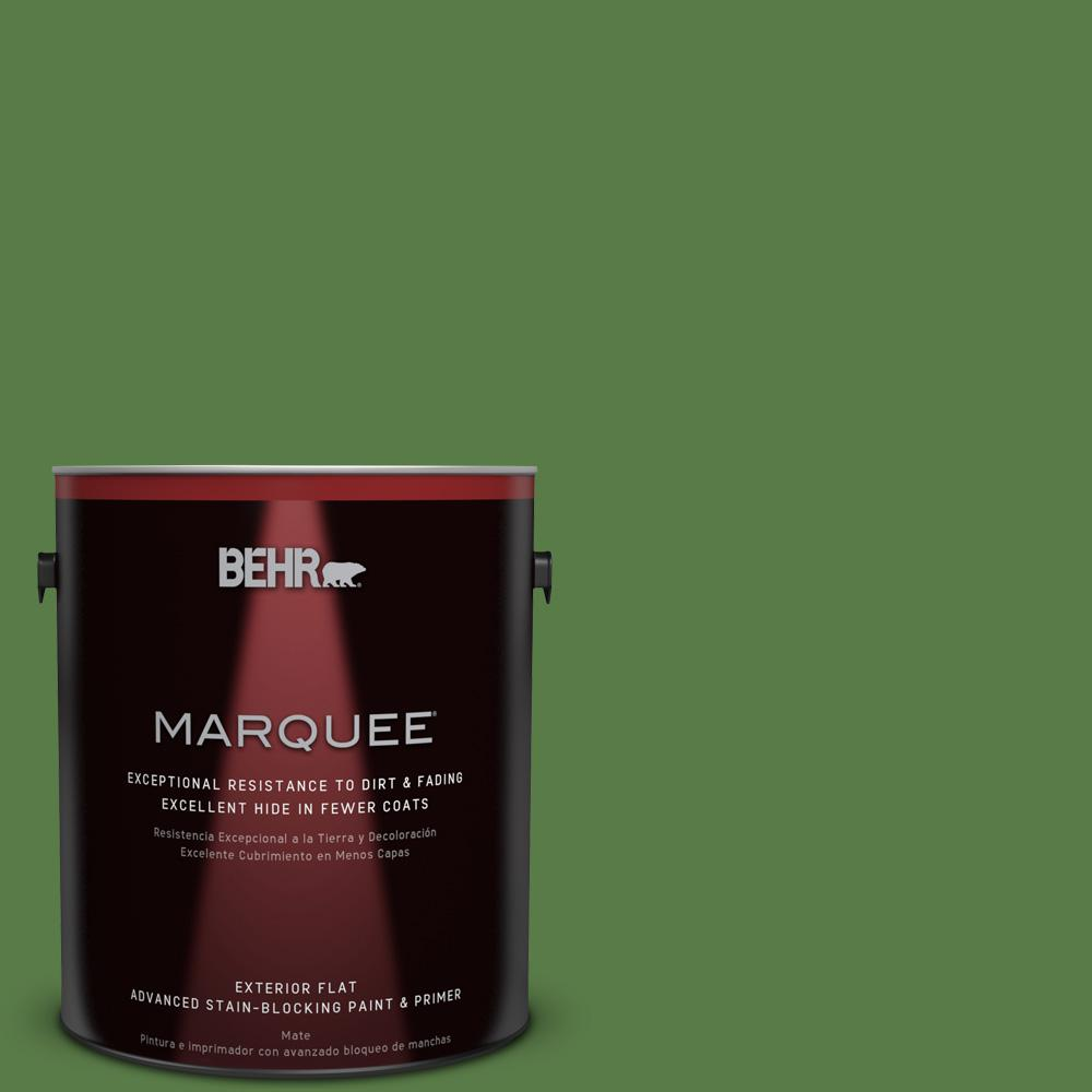 BEHR MARQUEE 1-gal. #440D-6 Grassy Field Flat Exterior Paint