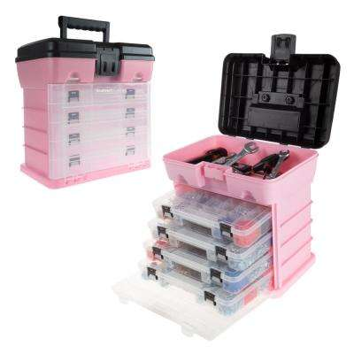 5-Compartment Small Parts Organizer, Pink