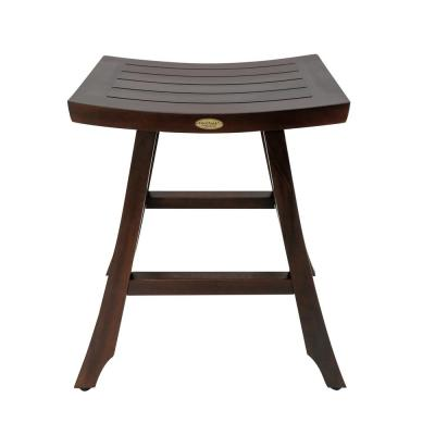 Satori 24 in. H Teak Brown Counter Stool