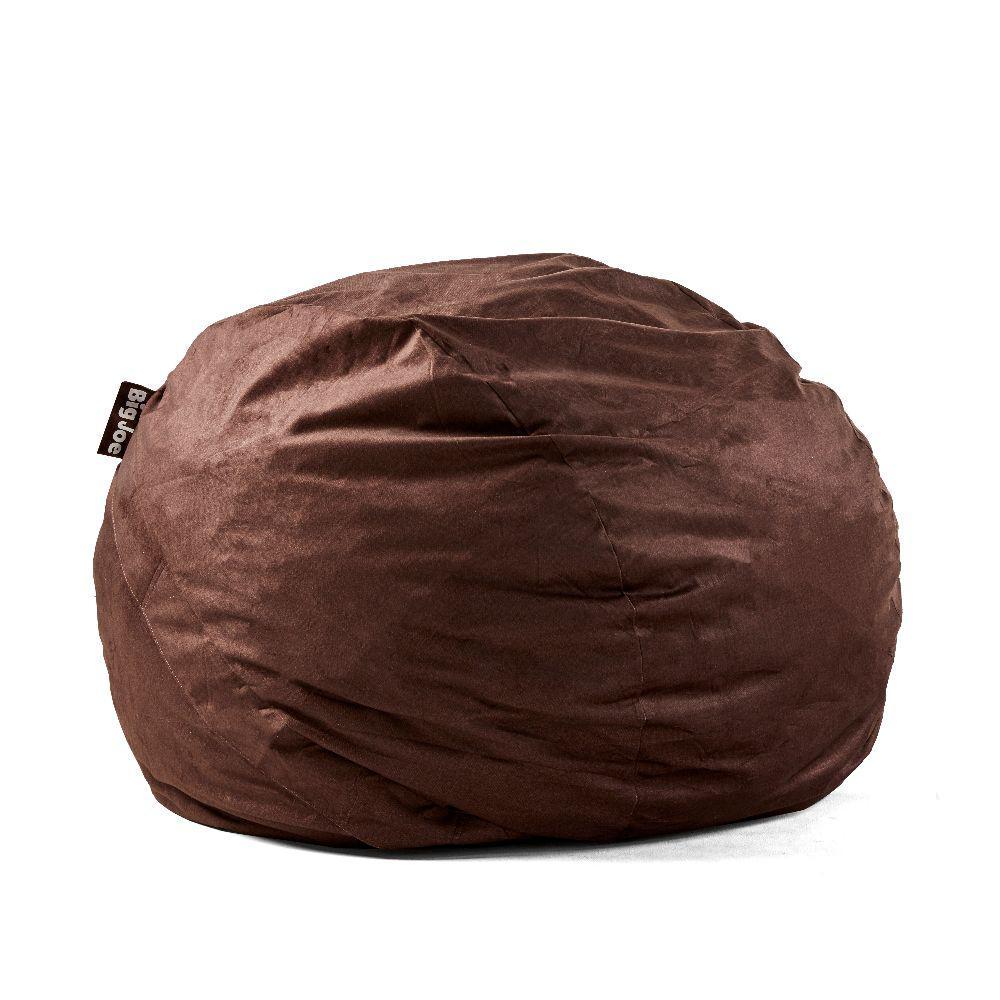 Big Joe King FUF Shredded Ahhsome Foam Cocoa Lenox Bean Bag