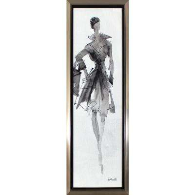 38.75 in. x 14.75 in. Fashionable Lady Printed Framed Wall Art