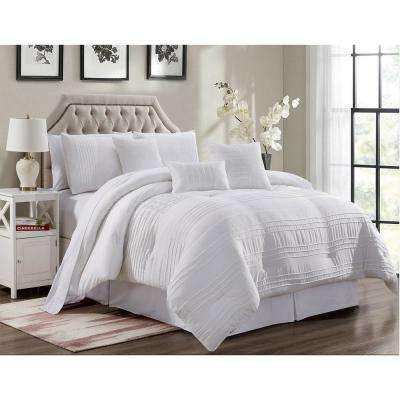 Mhf 7-Piece White Queen Comforter Set