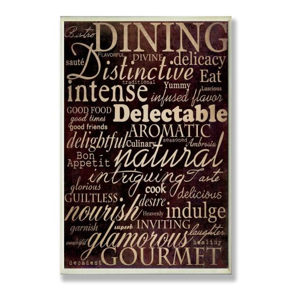 12 5 In X 18 5 In Dining Words Black Kitchen By Gplicensing Printed Wood Wall Art
