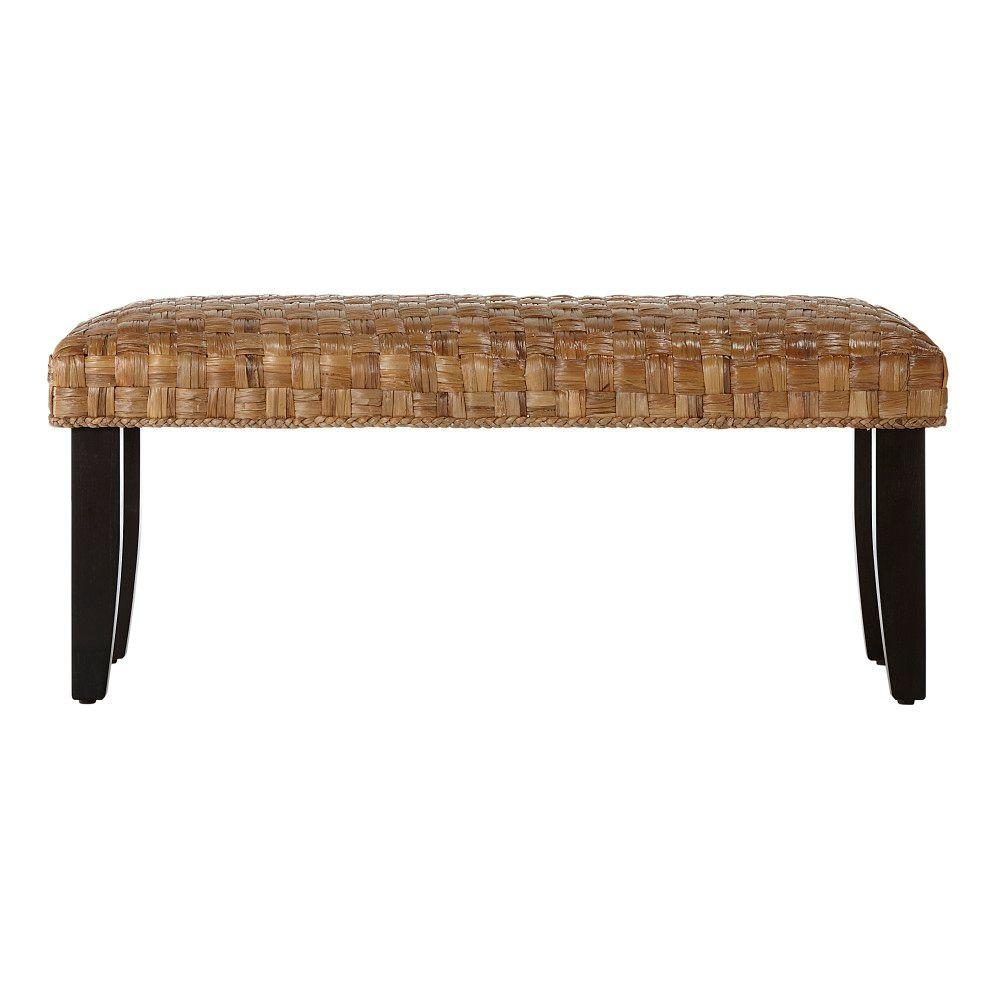 Home Decorators Collection 42 in. W Cabana Leaf Brown Bench