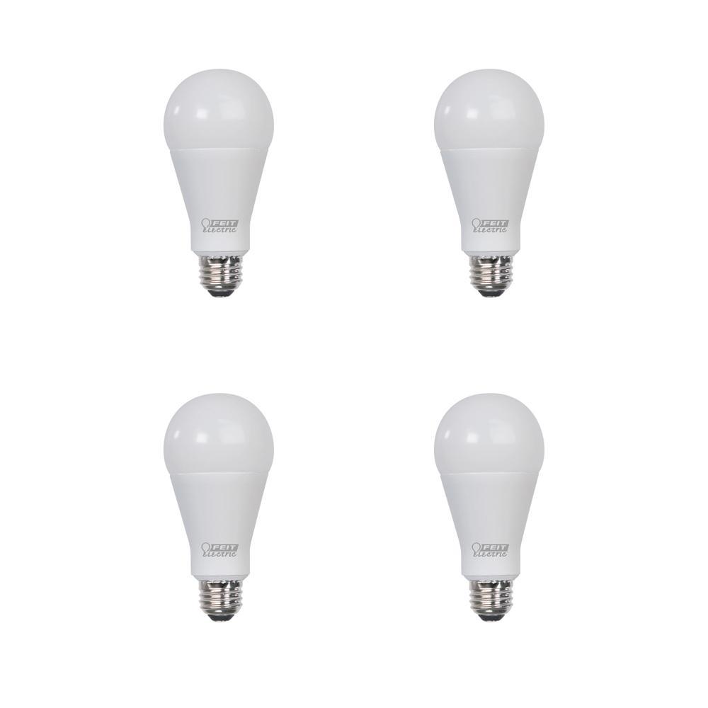 300-Watt Equivalent A23 ENERGY STAR LED Bright Light Bulb in Daylight (5000K) (4-Pack)