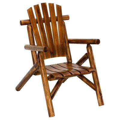 Log Brown Wood Outdoor Dining Chair