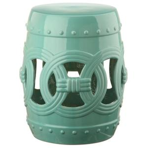 Safavieh Double Coin Light Blue Patio Stool Acs4500f The