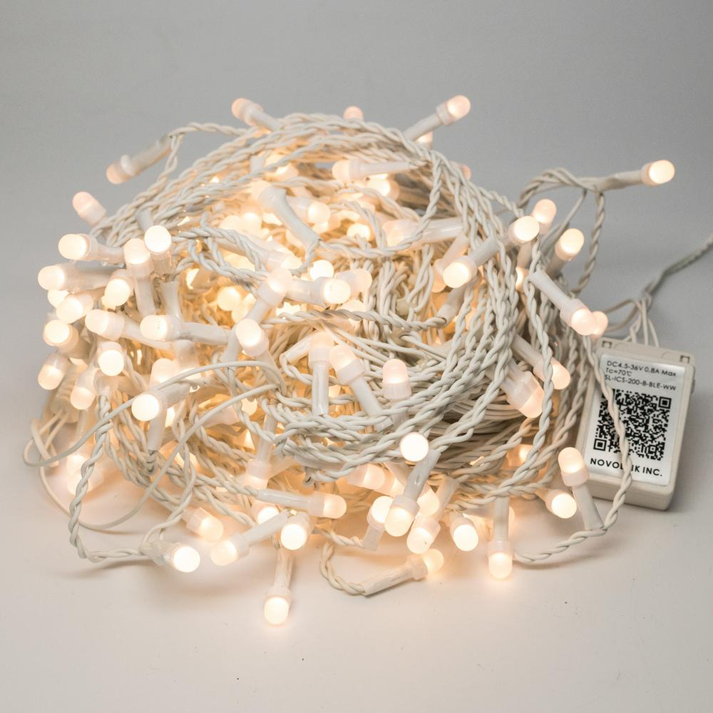 this review is from200 light 8 mm mini globe warm white led icicle string lights with wireless smart control