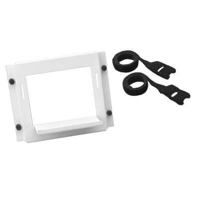 Universal Shelf Bracket for use in Structured Media Centers in White