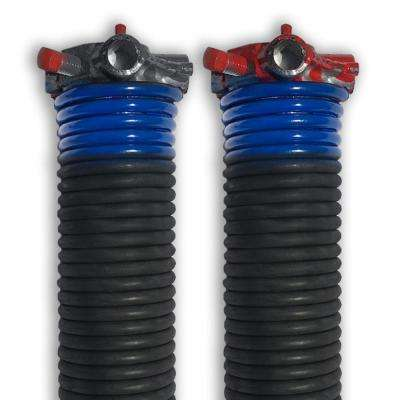 0.262 in. Wire x 1.75 in. D x 38 in. L Torsion Springs in Blue Left and Right Wound Pair for Sectional Garage Door