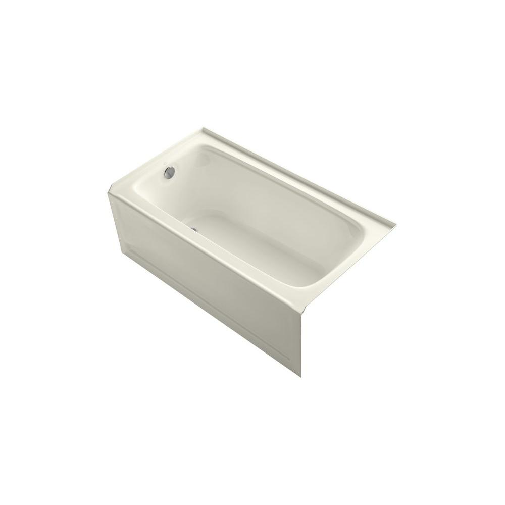 KOHLER Bancroft 5 ft. Left Drain Bathtub in Biscuit