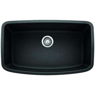 Valea Undermount Granite Composite 32 in. Single Bowl Kitchen Sink in Anthracite