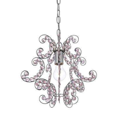 Sweet Dream 1-Light Chrome Mini Chandelier