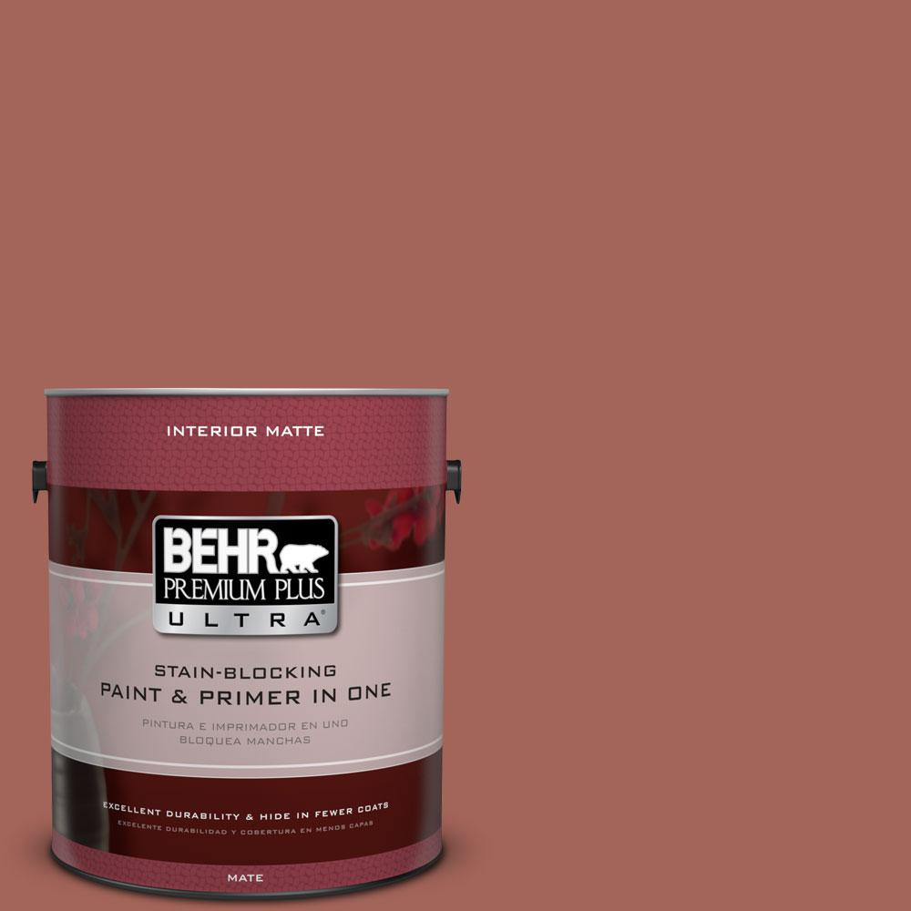 BEHR Premium Plus Ultra Home Decorators Collection 1 gal. #HDC-CL-08 Sun Baked Earth Flat/Matte Interior Paint