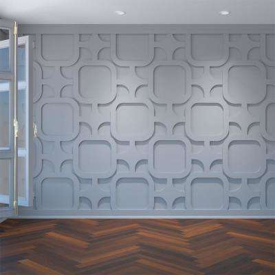 3/8 in. x 42-3/8 in. x 23-3/8 in. Large Lancaster White Architectural Grade PVC Decorative Wall Panels