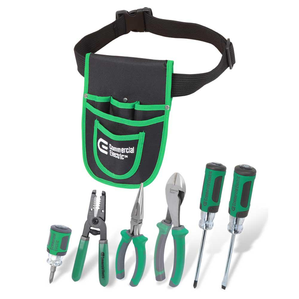 Commercial Electric 7-Piece Electrician's Tool Set with Pouch