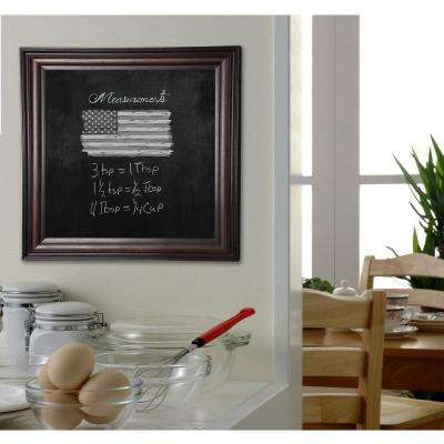28 in. x 28 in. American Walnut Blackboard/Chalkboard