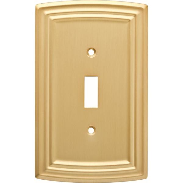 Brass 1-Gang Toggle Wall Plate (1-Pack)