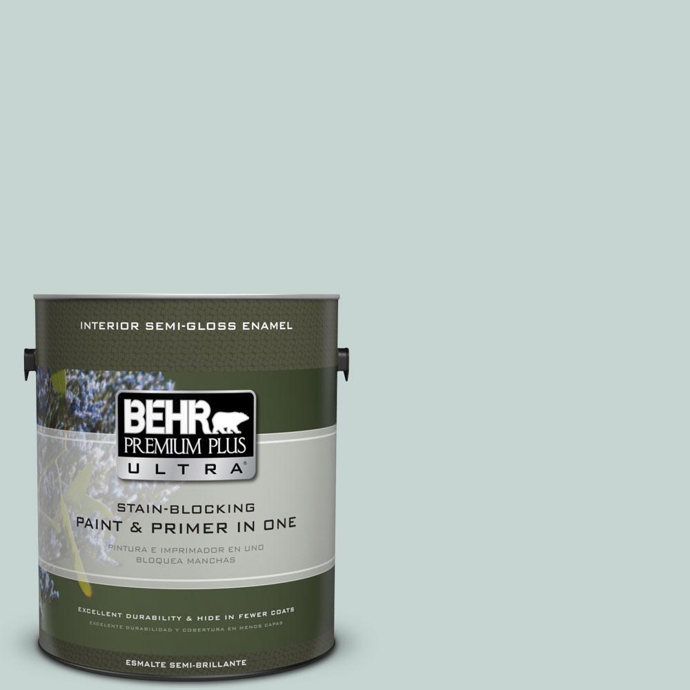 1-gal. #490E-3 Celtic Gray Semi-Gloss Enamel Interior Paint