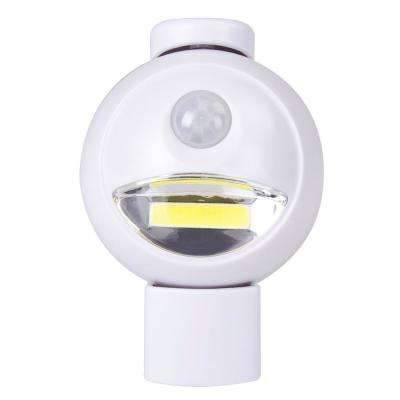 White Motion Activated Integrated LED Bulkhead COB Light