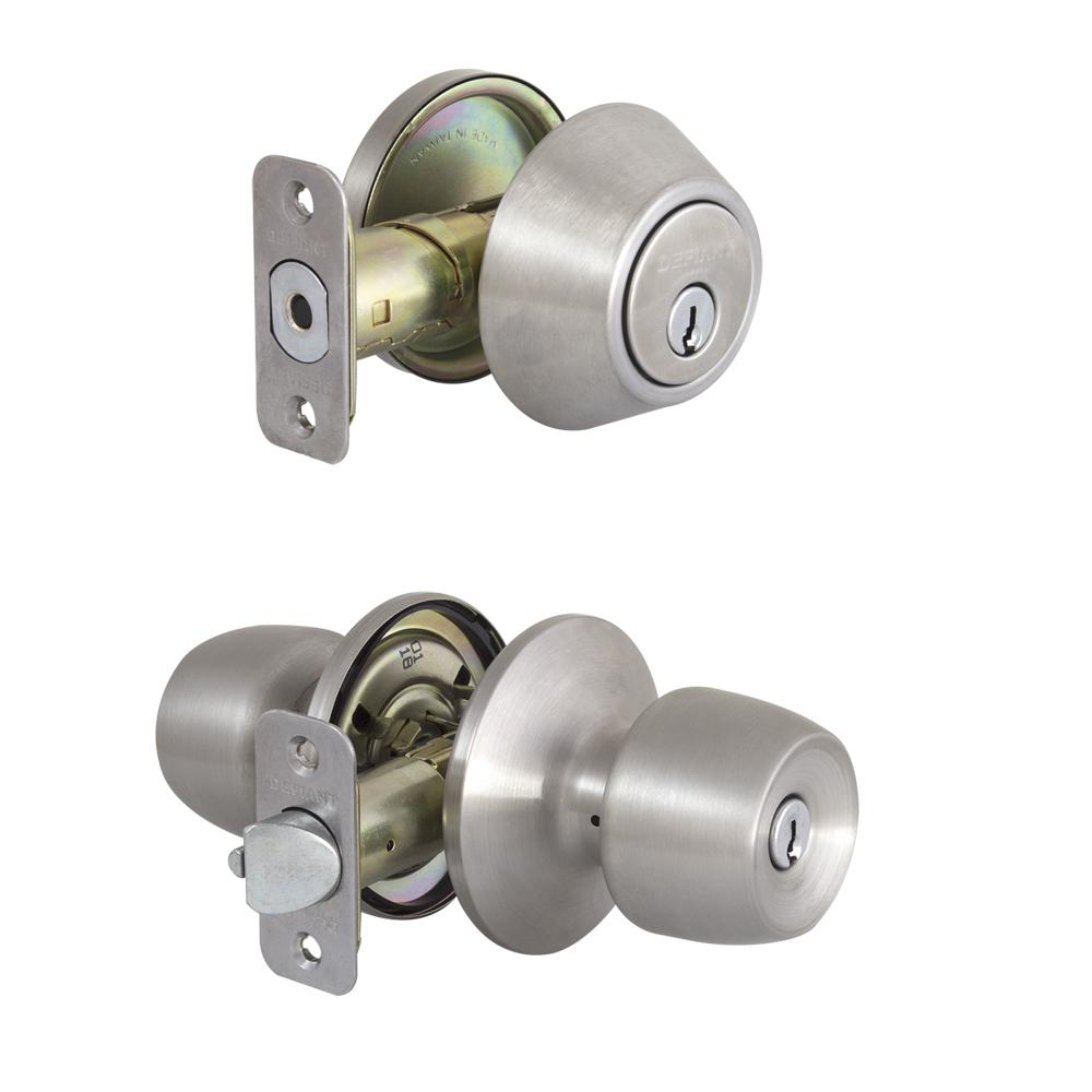 Brandywine Stainless Steel Keyed Entry Knob and Single Cylinder Deadbolt Combo