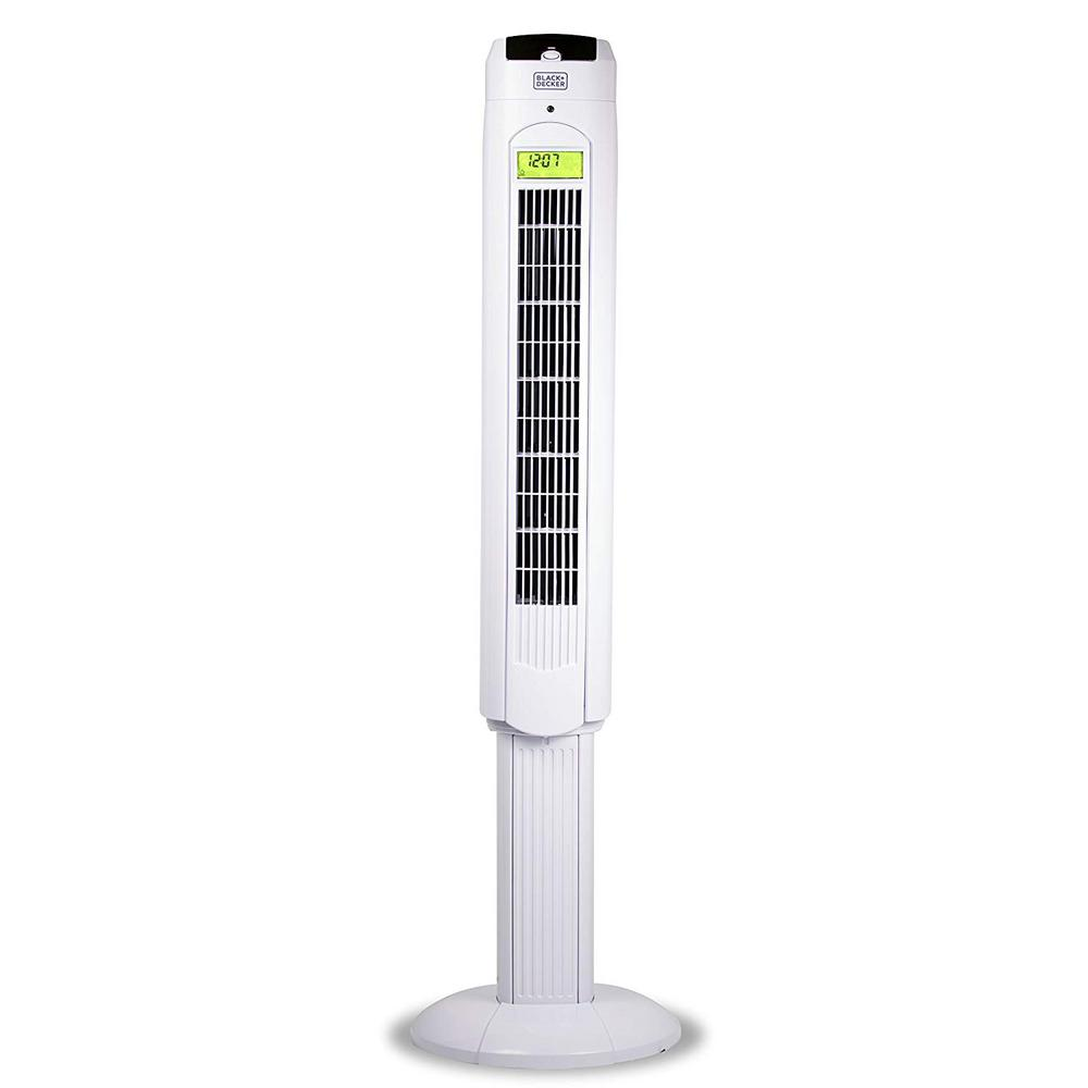 Black Decker 48 In Oscillating Tower Fan With Remote