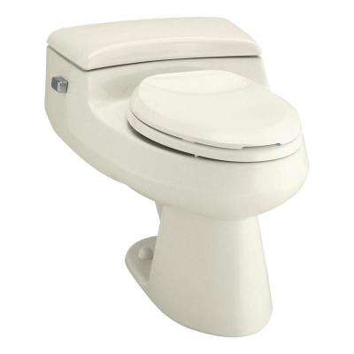 San Raphael Comfort Height 1-piece 1 GPF Single Flush Elongated Toilet in Biscuit, Seat Included