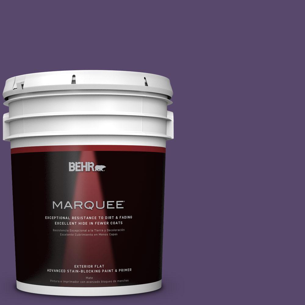 BEHR MARQUEE 5-gal. #P570-7 Proper Purple Flat Exterior Paint
