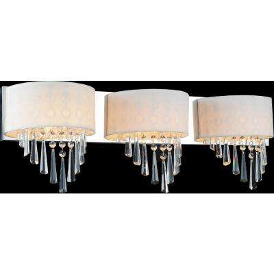 Burney 3-Light Chrome Sconce