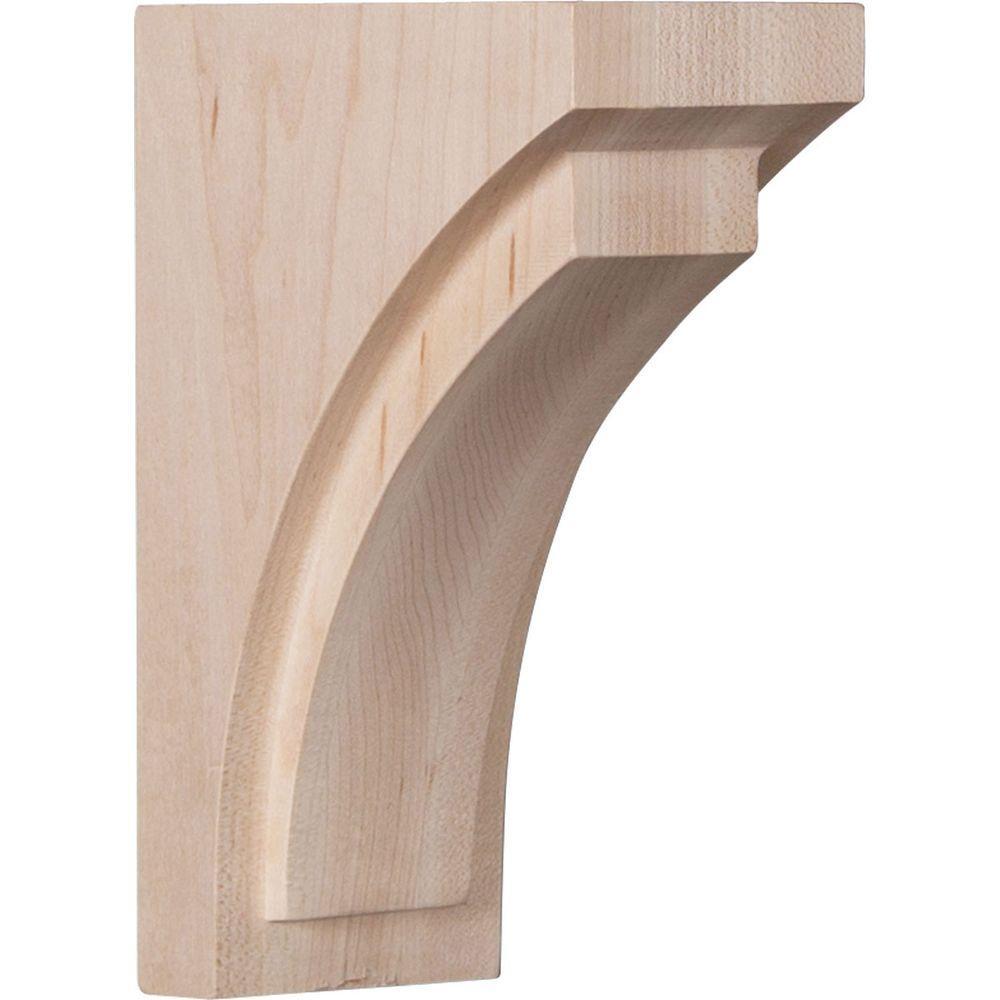 2-1/2 in. x 6 in. x 3-3/4 in. Red Oak Mini Felix Wood Corbel