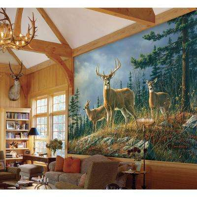 144 in. H x 100 in. W Autumn Whitetail Wall Mural