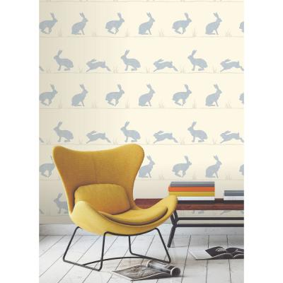 Nell Beige Rabbit Wallpaper