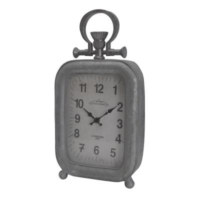 Old Town Table Clock - Antique Silver - Tall