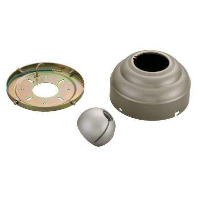 Ceiling Fan Canopies Collection Brushed Pewter Slope Ceiling Fan Adapter