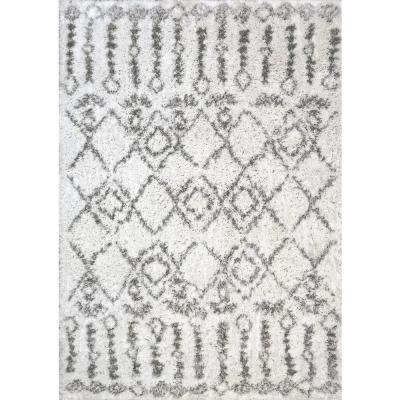 Nordic Ivory/Grey 5 ft. 3 in. x 7 ft. 7 in. Moroccan Area Rug