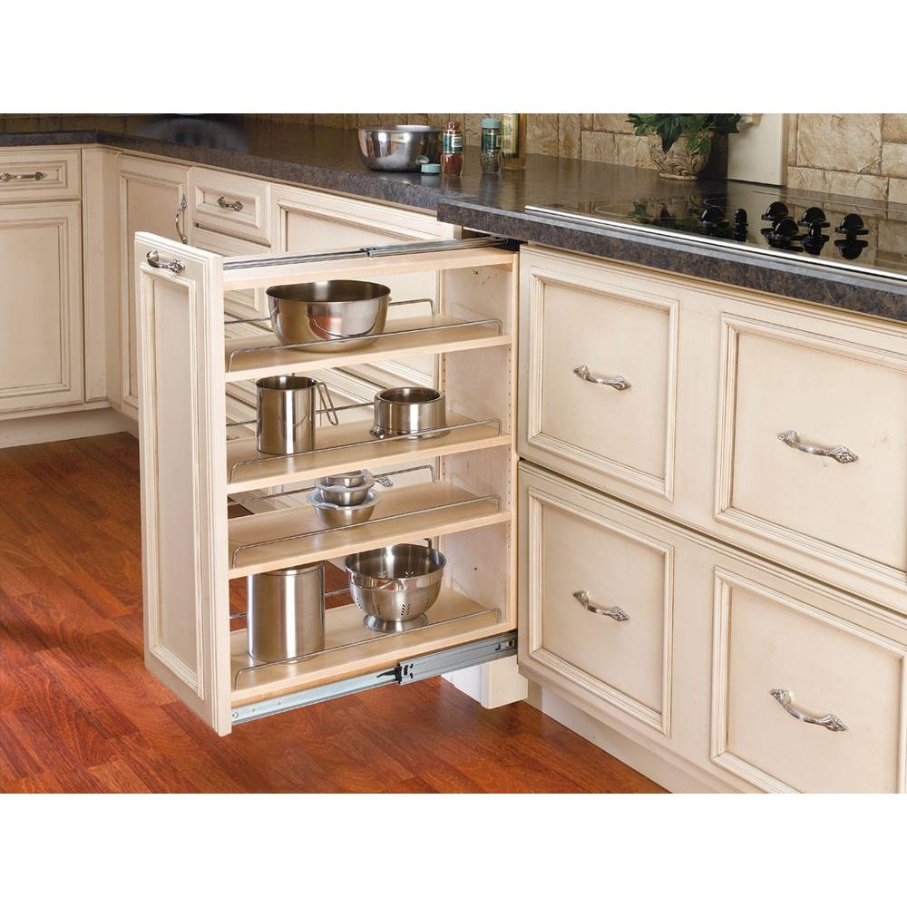9 base cabinet for kitchen rev a shelf 30 in h x 9 in w x 23 in d pull out between 10376