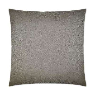 Siren Taupe Feather Down 24 in. x 24 in. Standard Decorative Throw Pillow