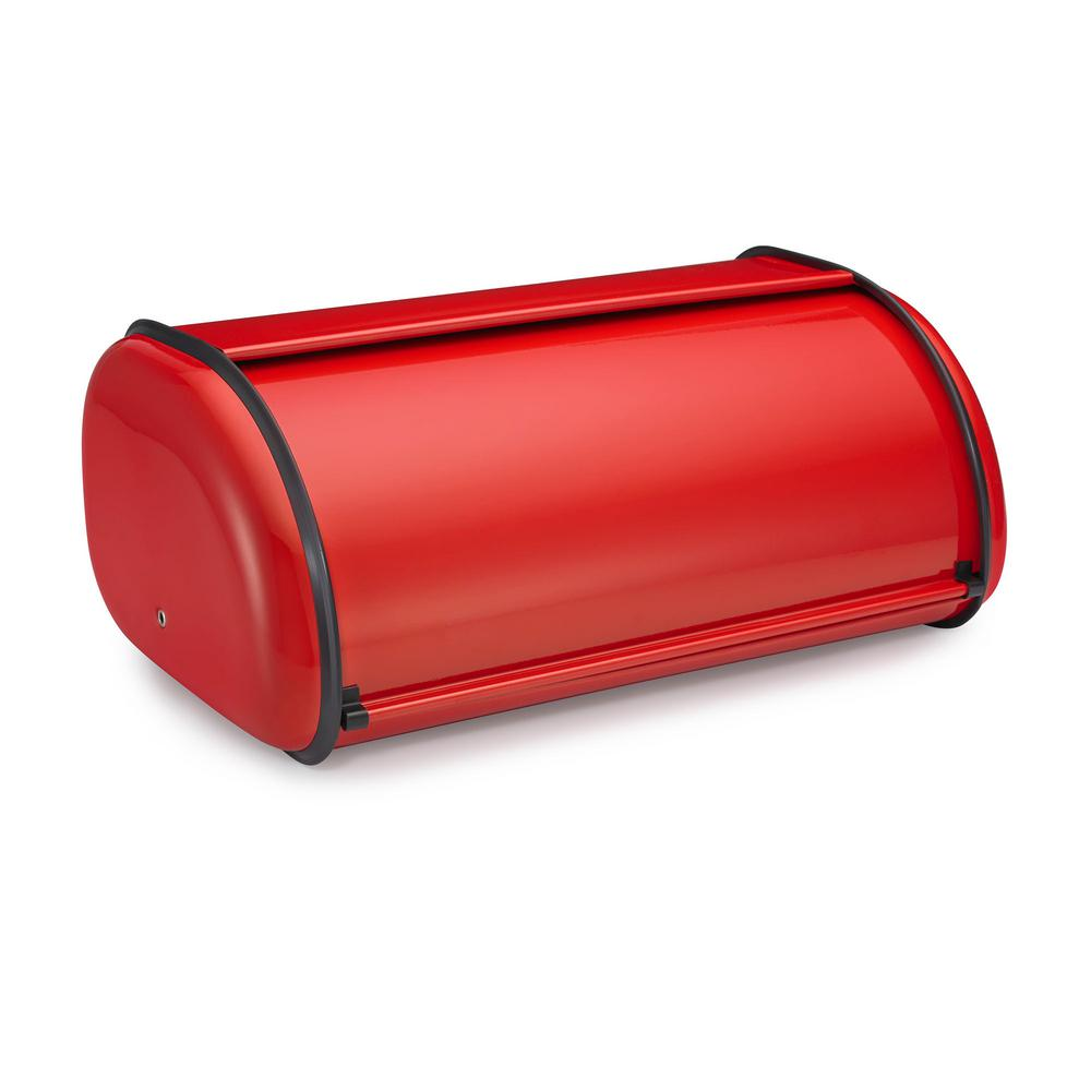 Polder Deluxe Bread Bin in Red Deluxe Bread Bin gives you extra space to store food items for your counter top. Its unique design fits nicely on the counter top without taking up space.