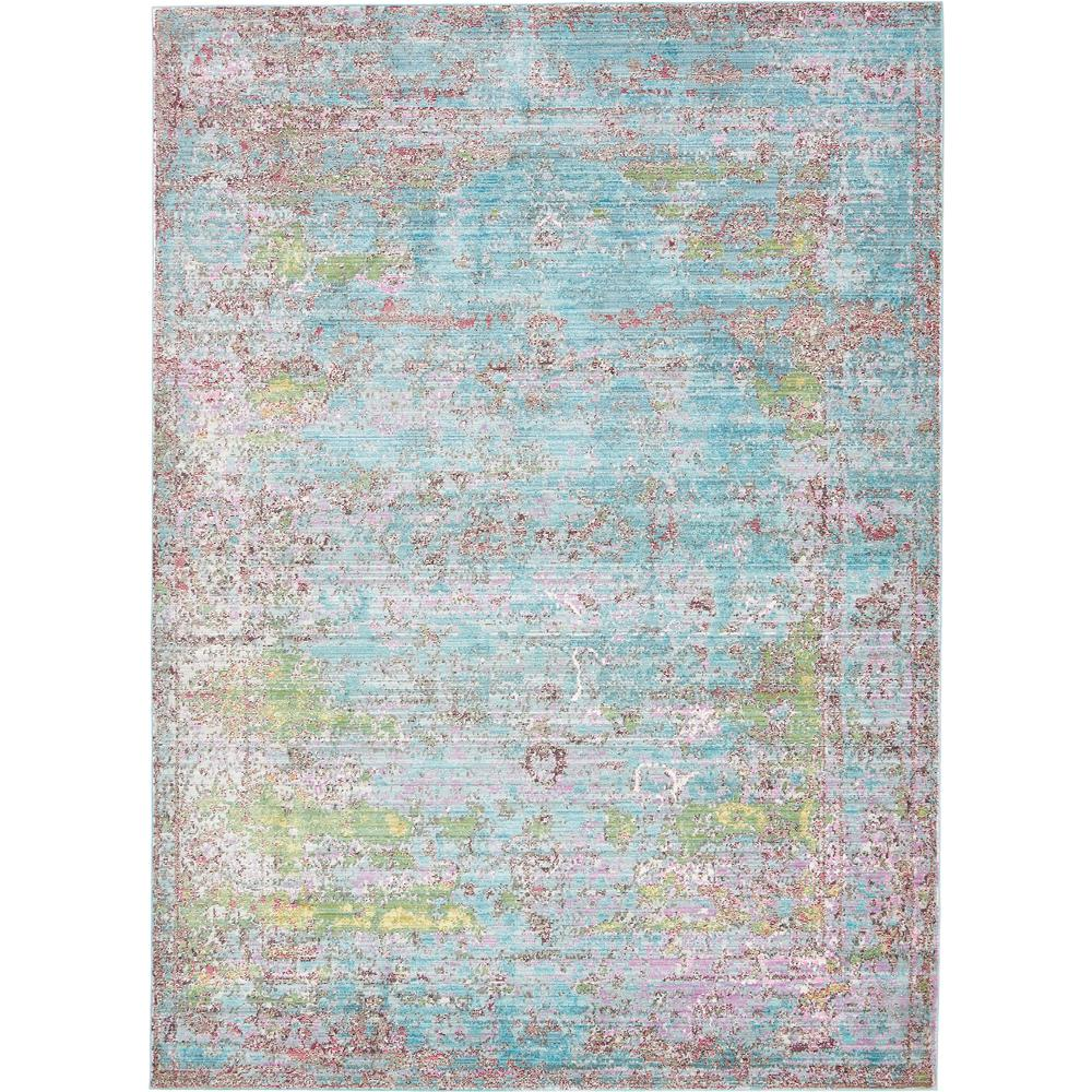 Unique Loom Aria Blue 7 ft. x 9 ft. 10 in. Area Rug
