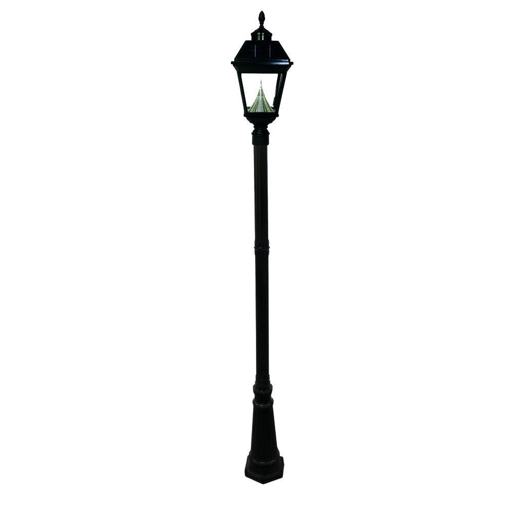 Gama Sonic Imperial Solar Black Outdoor Lamp Post