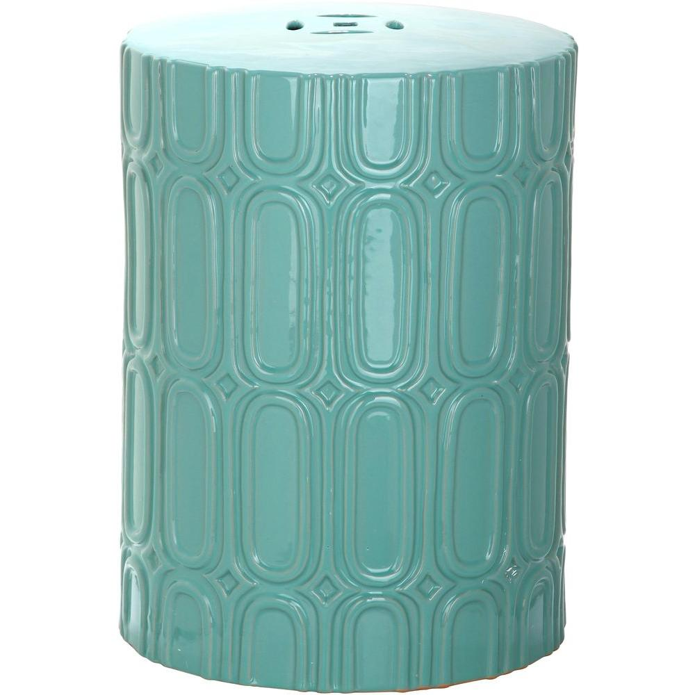 Safavieh Melody Light Blue Patio Stool
