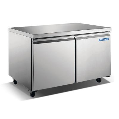 60 in. W 15 cu. ft. Commercial Undercounter Freezerless Refrigerator in Stainless Steel