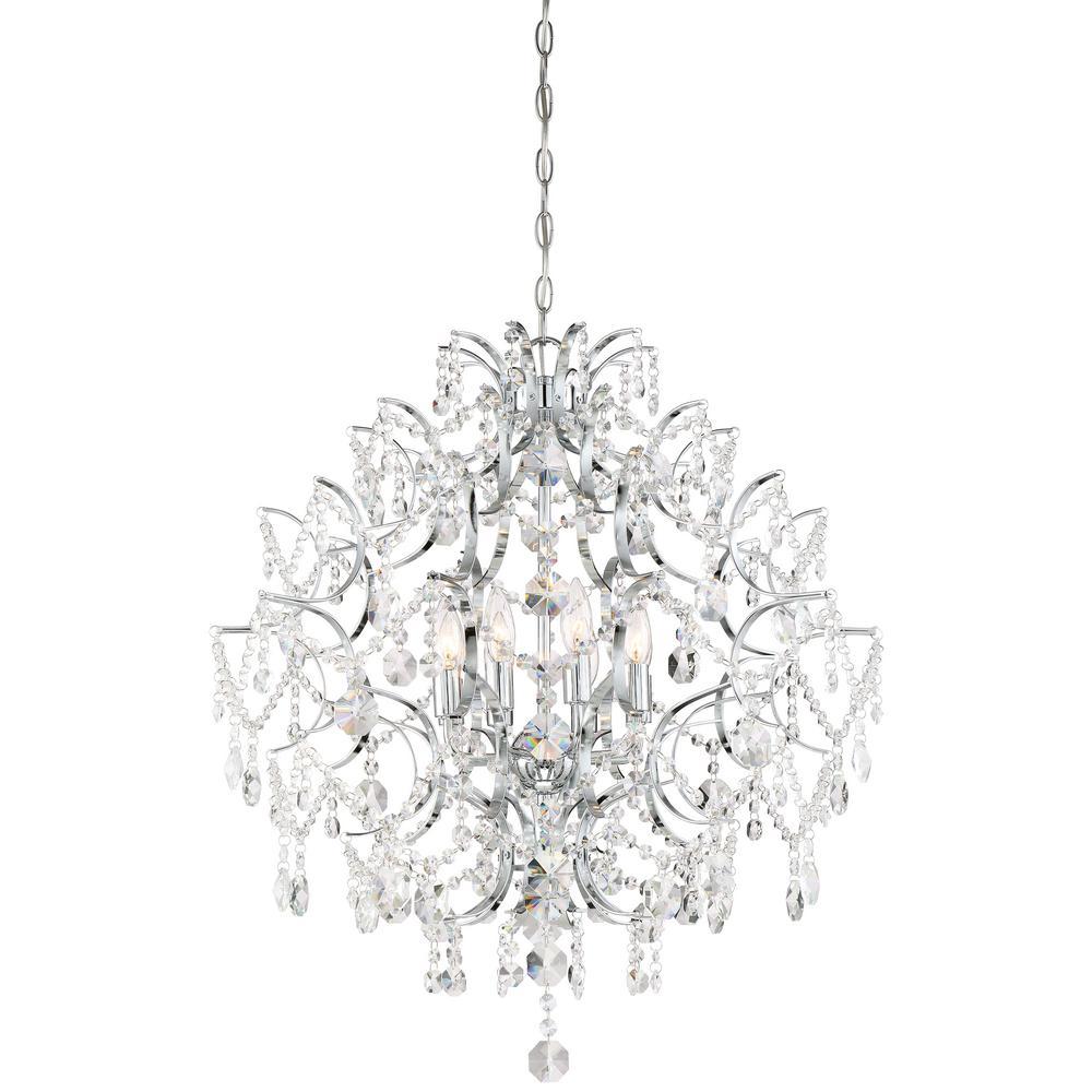 Isabella's Crown 8-Light Chrome Chandelier