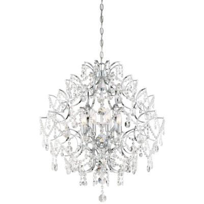Isabella's Crown 8-Light Chrome Chandelier