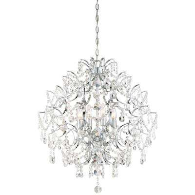 Chrome minka lavery chandeliers lighting the home depot isabellas crown 8 light chrome chandelier minka lavery mozeypictures Image collections