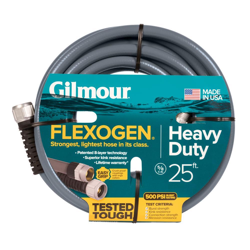 5/8 in. Dia x 25 ft. Gray Flexogen Heavy Duty Garden Water Hose
